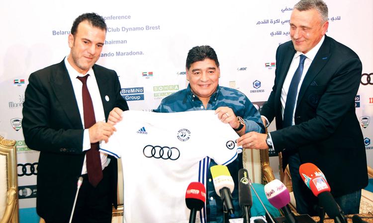 مارادونا يطلق اسم «زايد» على ملعب دينامو برست