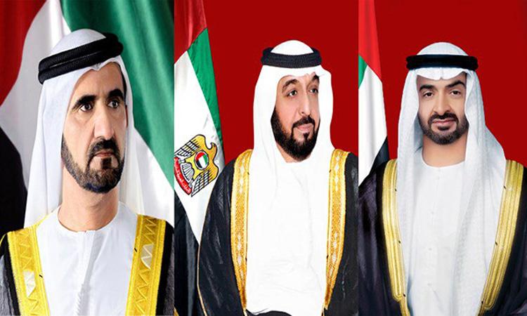 رئيس الدولة ونائبه ومحمد بن زايد يتلقون برقيات تهنئة بحلول شهر رمضان المبارك
