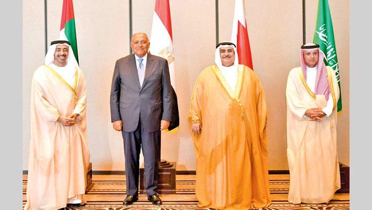 رباعي مكافحة الإرهـاب يرفع قضيـة المجال الجوي مع قطر إلى «العدل الدولية»