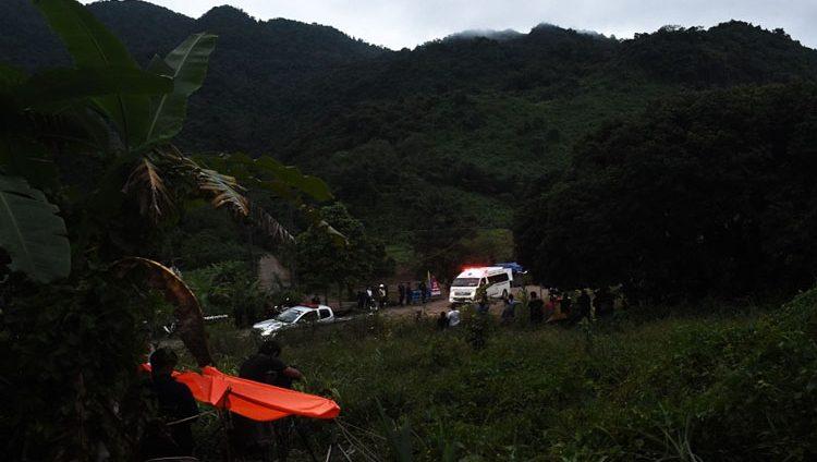 إنقاذ أربعة من فتية الكهف في تايلاند