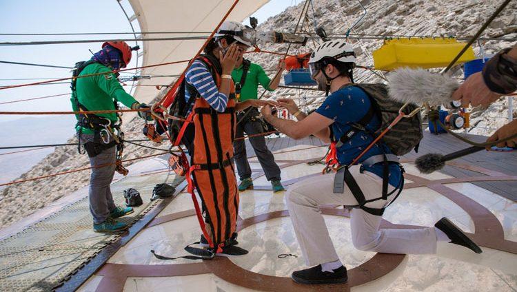 زواج على أطول مسار انزلاقي في العالم برأس الخيمة