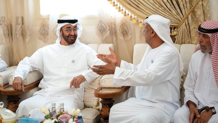 محمد بن زايد يزور أسرتي محمد بخيت الكتبي وفاطمة مانع الرميثي في العين