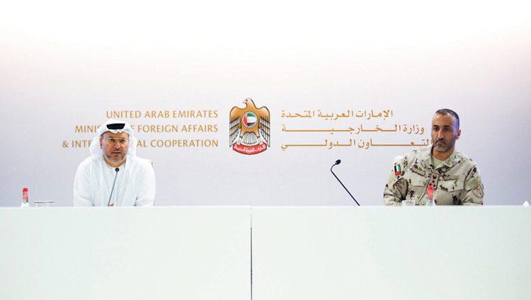 قرقاش: ملتزمون بمكافحة الإرهاب والتصدي لتنظيم القاعدة في اليمن