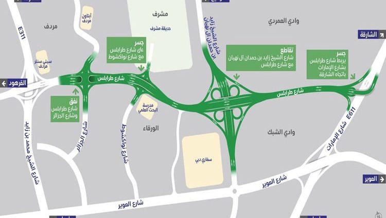 """""""طرق دبي"""": 60% نسبة الإنجاز في مشروع تطوير شارع طرابلس"""