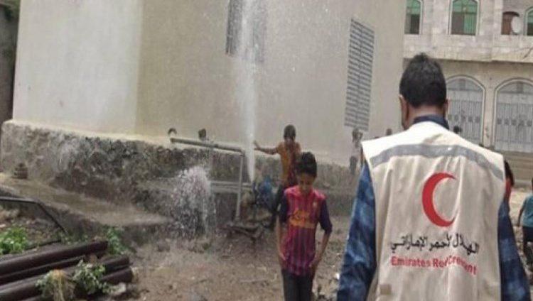 """بدعم إماراتي .. افتتاح بئر مياه ارتوازية بـ""""موشج"""" في الحديدة اليمنية"""