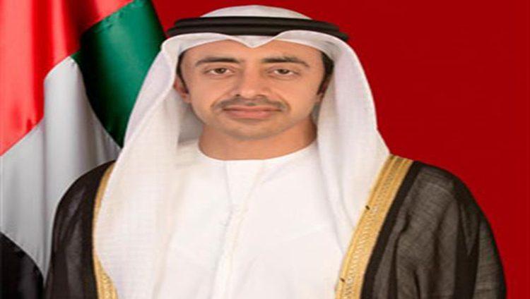 عبدالله بن زايد يبحث تعزيز العلاقات الثنائية مع وزير الداخلية البريطاني