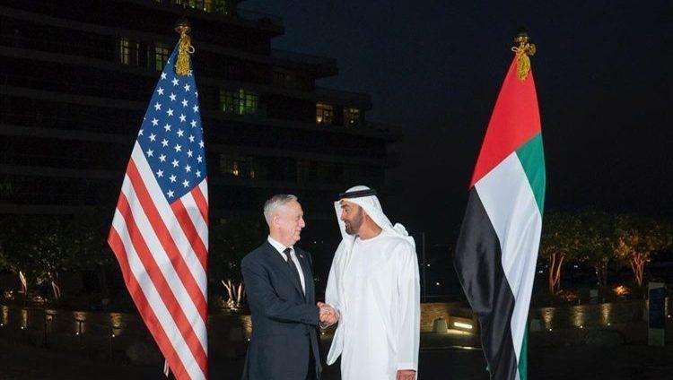 محمد بن زايد يبحث مع ماتيس العلاقات العسكرية وقضايا إقليمية ودولية