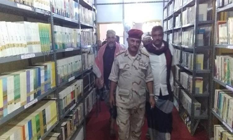 الهلال الأحمر الإماراتي يعيد ترميم المكتبة الوطنية بمحافظة الضالع