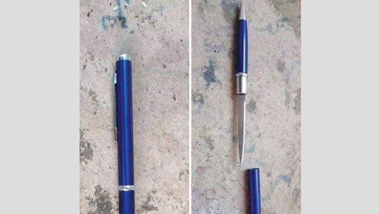 «بوسكلين».. سلاح أبيض على هيئة قلم