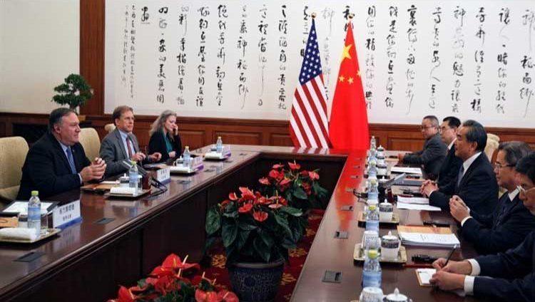 بومبيو يزور بكين وأجواء الحرب التجارية تخيم على اللقاء