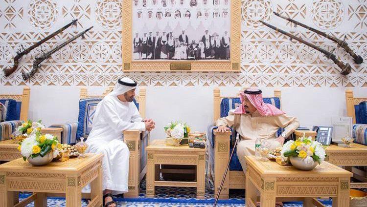 خادم الحرمين ومحمد بن زايد يبحثان تعزيز العلاقات الأخوية والقضايا الإقليمية