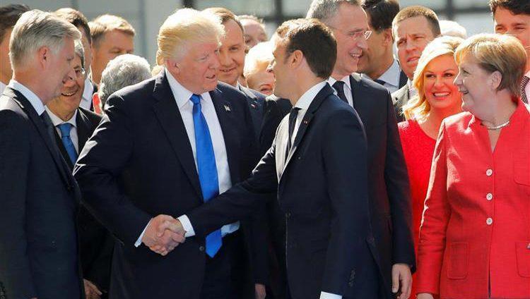 ماكرون يعقد اجتماعاً مع ترامب قبل لقائه ميركل