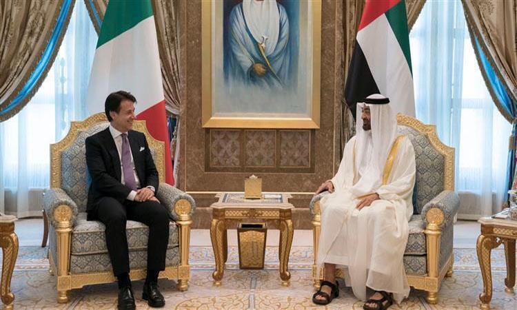 محمد بن زايد يستقبل رئيس وزراء إيطاليا