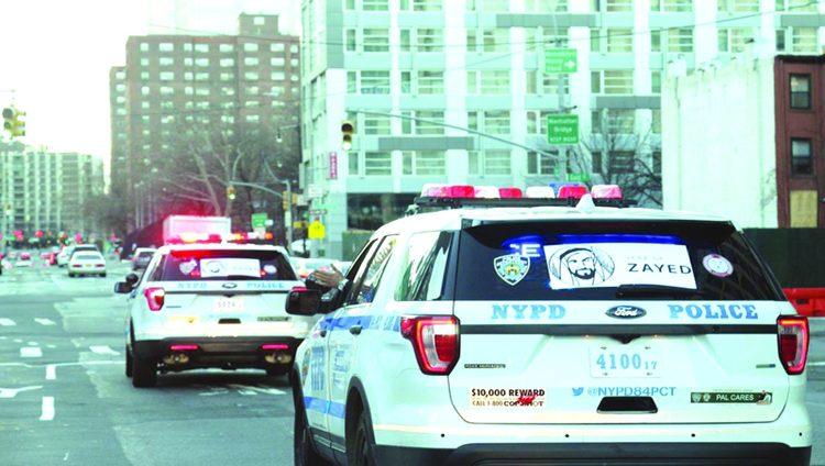 شعار «عام زايد» يزين دوريات شرطة نيويورك