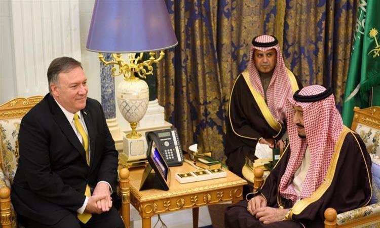 خادم الحرمين الشريفين يستقبل وزير الخارجية الأميركي
