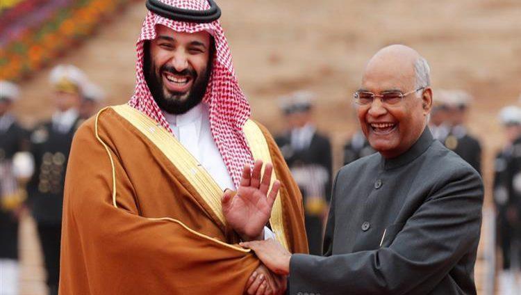 رئيس جمهورية الهند يستقبل ولي العهد السعودي في نيودلهي