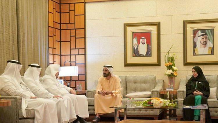محمد بن راشد يستقبل رئيس مجلس الشورى السعودي
