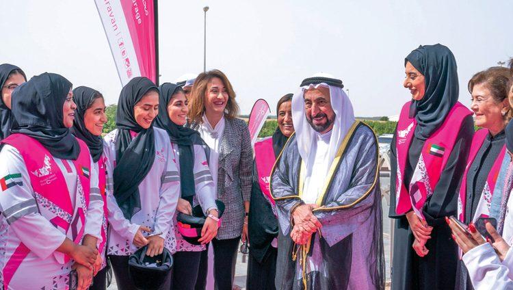 سلطان القاسمي: القافلة الوردية تجابه أخطر أعداء المجتمع