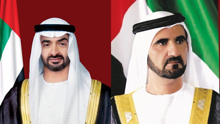 محمد بن راشد ومحمد بن زايد يستقبلان كبار ضيوف آيدكس