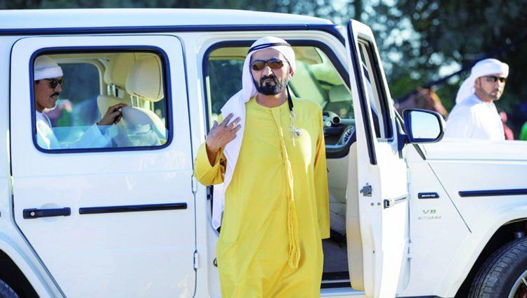 محمد بن راشد يتفقد استعدادات كأس رئيس الدولة للقدرة في الوثبة