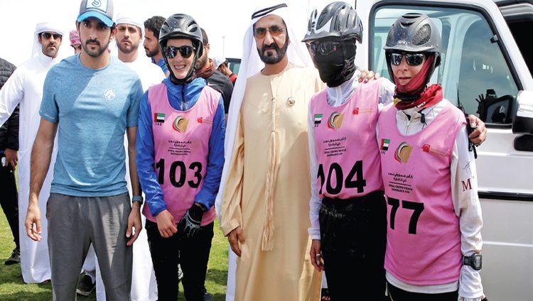 محمد بن راشد يشهد انطلاقــة مهرجـان ولي عهد دبي للقدرة في سيح السلم