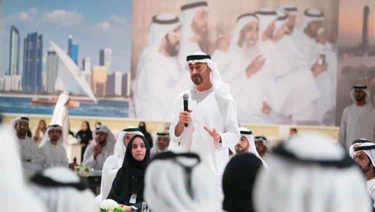 محمد بن زايد يحضر الأمسية الرمضانية لحكومة أبوظبي