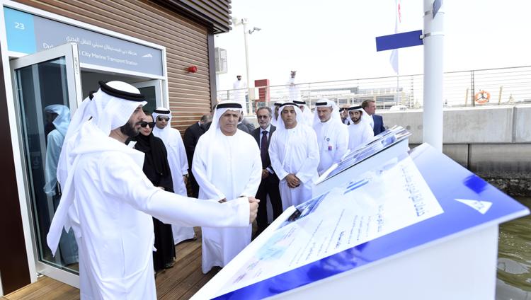 الطاير يفتتح أول محطة عائمة ذكية للنقل البحري في دبي