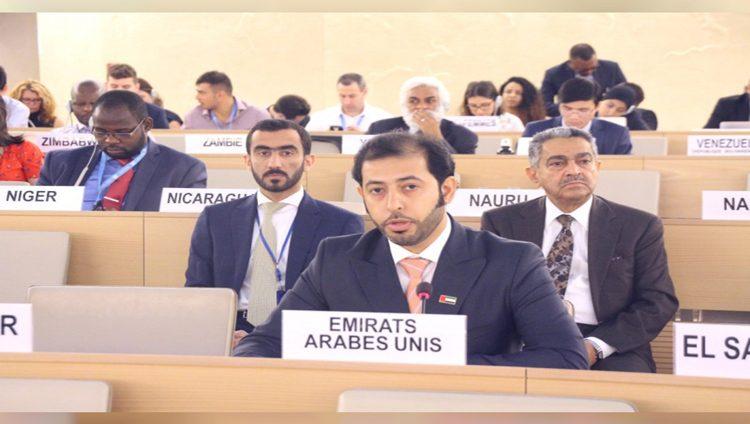 """الإمارات تجدد أمام مجلس حقوق الانسان ترحيبها بـ""""اتفاق السودان"""""""