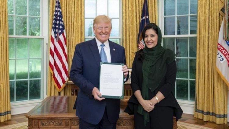 الرئيس الأميركي يستقبل سفيرة السعودية في البيت الأبيض