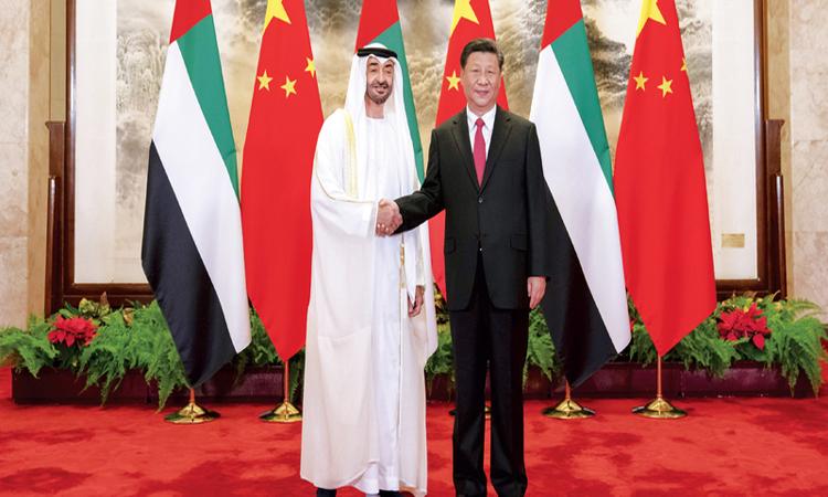 محمد بن زايد: تجمعنا مع الصين طموحات مشتركة للاستثمار في الإنسان واسـتقرار العالم