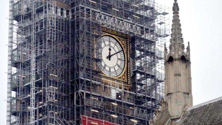 أعمال الترميم تُسكت ساعة «بيغ بن»