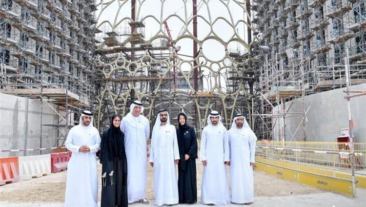 """محمد بن راشد يتفقد مشاريع البنية التحتية لـ""""إكسبو 2020 دبي"""""""