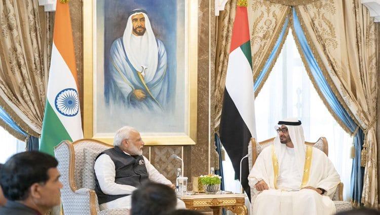 محمد بن زايد ورئيس وزراء الهند يبحثان علاقات البلدين