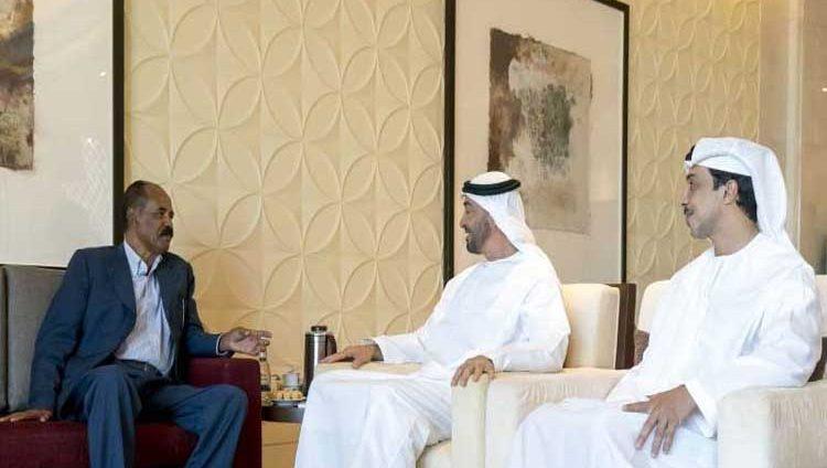 محمد بن زايد يبحث مع رئيس إريتريا تعزيز العلاقات والتطورات الدولية