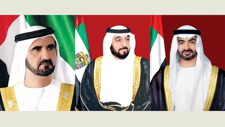 خليفة ومحمد بن راشد ومحمد بن زايد يهنئون شي جين بينغ