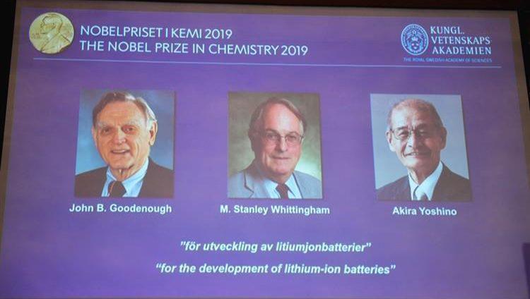 أميركي وبريطاني وياباني يفوزون بجائزة نوبل للكيمياء