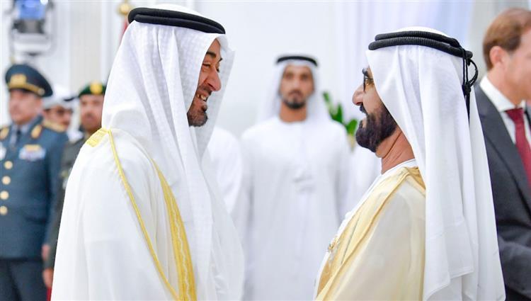 محمد بن راشد ومحمد بن زايد يشهدان عرضاً جوياً في معرض دبي الدولي للطيران