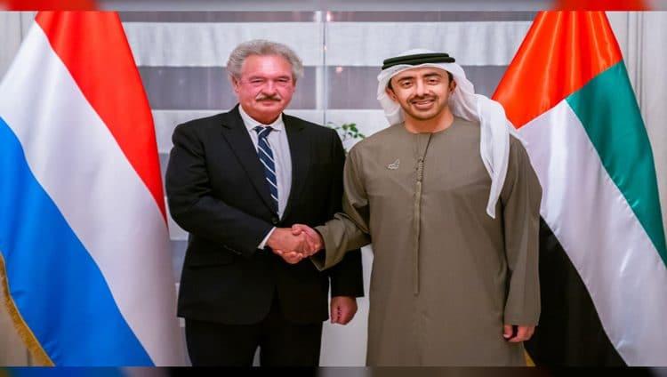 عبدالله بن زايد يستقبل وزير خارجية لوكسمبورج