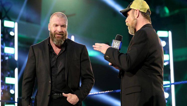  WWE تحتفي بتربل إتش