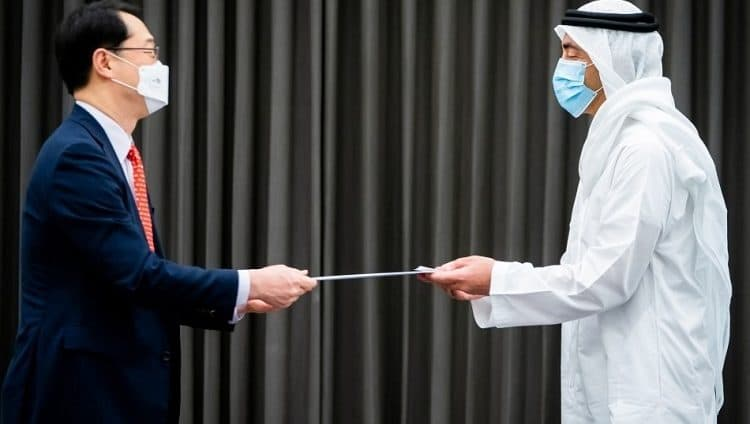 محمد بن زايد يتلقى رسالة خطية من الرئيس الكوري الجنوبي بمناسبة مرور 40 عاماً على تأسيس العلاقات بين البلدين