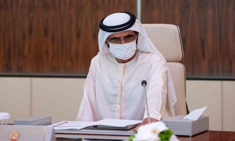 محمد بن راشد يترأس أول اجتماع حضوري لمجلس الوزراء