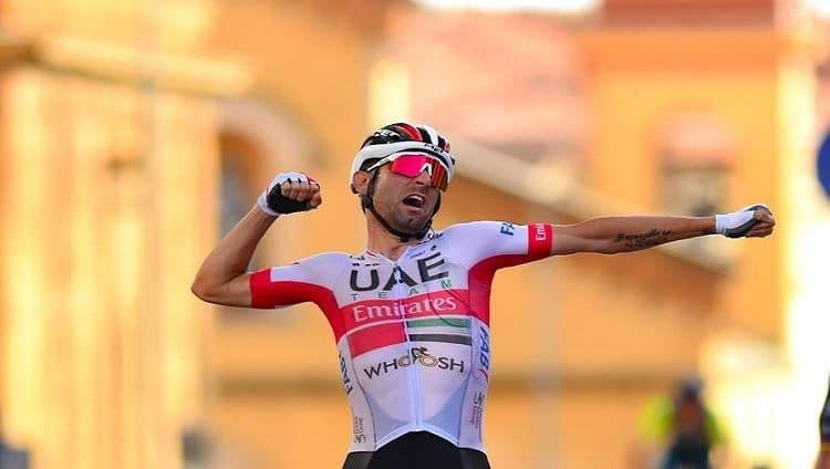 دييجو أوليسي دراج فريق الإمارات يفوز بالمرحلة الثانية من جولة إيطاليا