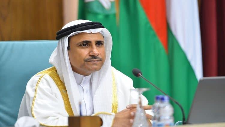 رئيس البرلمان العربي يهنئ محمد بن زايد لاختياره أفضل شخصية دولية في مجال الإغاثة الإنسانية