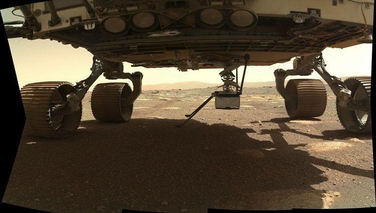 مروحية ناسا على سطح المريخ