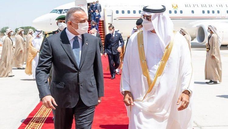 رئيس وزراء العراق يصل البلاد ومحمد بن زايد في مقدمة مستقبليه