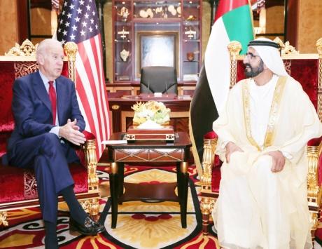 محمد بن راشد: علاقة الإمارات بأمريكا يرسخها تبادل تجاري وتوافق سياسي