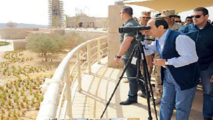 السيسي: 150 مليار جنيه لتنمية سيناء