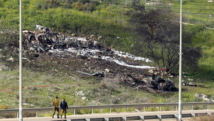 إسقاط مقاتلة إسرائيلية بعد إغارتها على أهداف إيرانية في سوريا