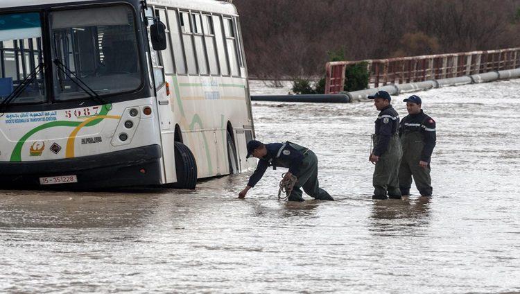 الأمطار الغزيرة تعطل الدراسة في عدة مدن تونسية