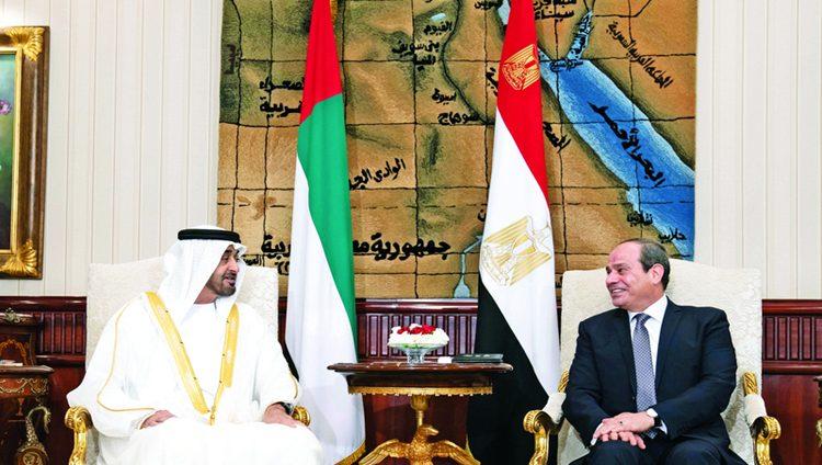 الإمارات ومصر: يدٌ واحدة لتحصين المنطقة